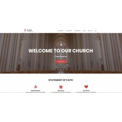 Realization Web Site Landing Page with advanced responsiveness and graphic theme optimized for themes in the area of Religious Spiritual Cultural etc..