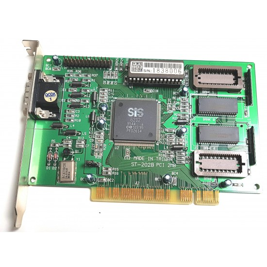 Scheda video Super VGA SIS 6202 - ST-202B PCI 1MB