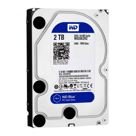 Hard Disk interno Western Digital WD Blue WD20EZRZ da 2TB SATA3 64 MB Cache