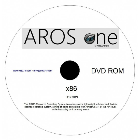 AROS one Live DVD by AMIGASYSTEM