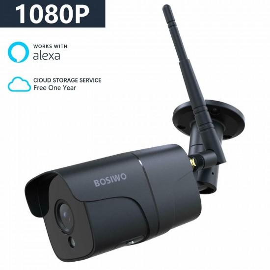 Telecamera su IP WIFI Bosiwo FullHD IP66 con funzione Alexa