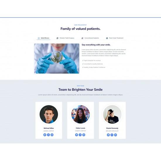 Realizzazione Sito Web con responsività avanzata e tema grafico ottimizzato per cliniche odotoiatriche e studi medici