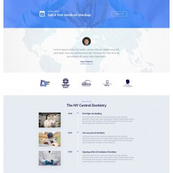 Website creation with advanced responsiveness and optimised graphic theme for dental clinics and medical practices