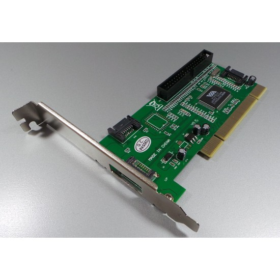 PCI SATA II controller (3 ports) with independent PATA channel