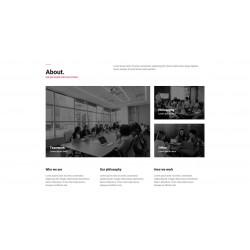 Realizzazione Sito Web Landing Page con responsività avanzata e tema grafico ottimizzato per studi grafici arte visiva ecc..