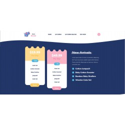Web Site or Landing Page Realization with advanced responsivity theme for Children products and services related to early childhood