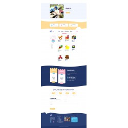 Sito Web o Landing Page con responsività avanzata a tema per Bambini prodotti e servizi correlati alla prima infanzia