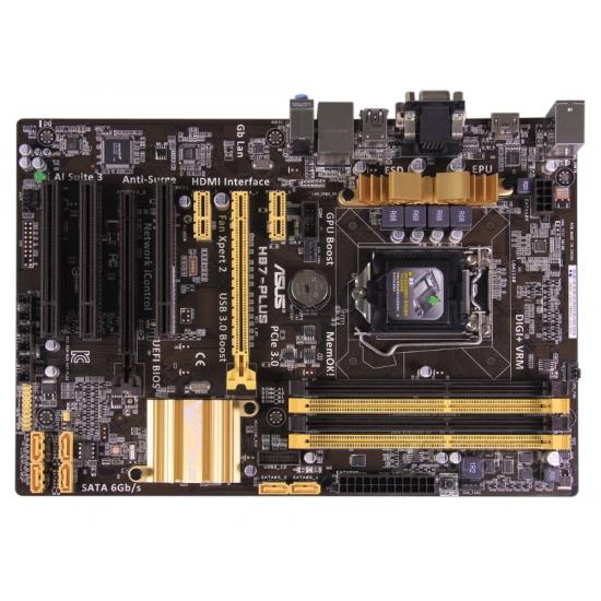 ASUS H87-Plus motherboard with LGA1150 CPU slots USB3 and SATA3