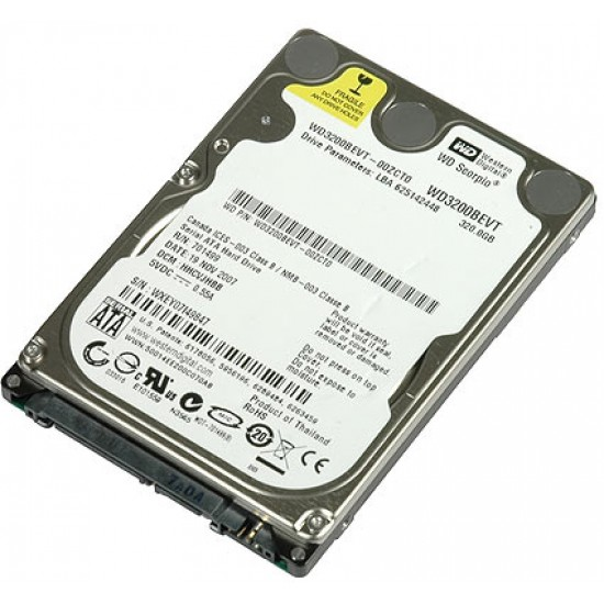 Hard Disk WesternDigital WD3200BEVT da 320GB da 2,5 Pollici