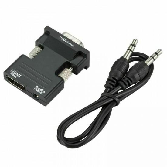 Convertitore di segnale video da HDMI a VGA con uscita Audio