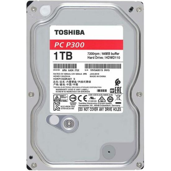 Hard Disk interno Toshiba PC P300 da 1TB SATA da 3,5 Pollici HDWD110