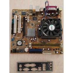 MainBoard ASUS M2V-TVM con AMD Sempron 3400+ e 512 MB di Ram testata e funzionante