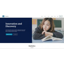 Realization Web Site Landing Page with advanced responsiveness and graphic theme optimized for Schools Training Courses Education Learning etc..