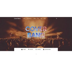 Realization Web Site or Landing Page with advanced responsiveness and graphic theme optimized for sectors Music Audio Band Live events etc..