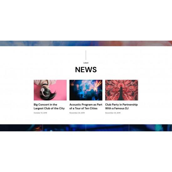 Sito Web o Landing Page con responsività avanzata e tema grafico ottimizzato per settori Musica Audio Band eventi Live ecc..