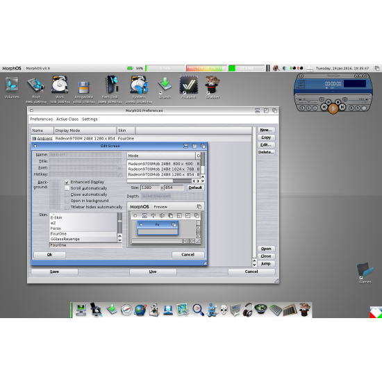 Personal Computer Apple Mac Mini A1103 2026 con CPU PowerPC G4 e sistema operativo Morphos 3.15 preinstallato
