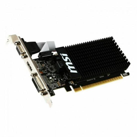 Scheda Video MSI NVidia GT 710 1 GB DDR3 PCI-E 2.0 DVI-D Dual Link / D-SUB / HDMI Low Profile