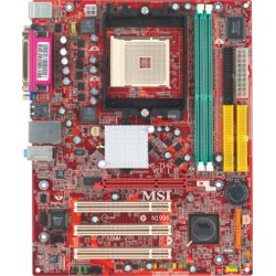 Scheda Madre MSI MS-7142 K8MM-V con AMD Sempron 2600+ e 1GB di RAM DDR