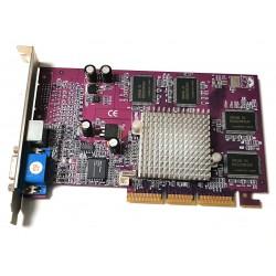 Scheda video AGP NVIDIA GeForce 4 MX440 con 64MB RAM DDR e uscita video TV