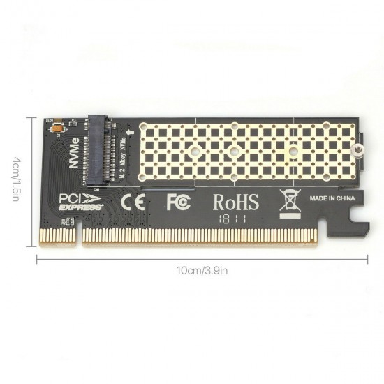 Full Speed adapter for M.2 NVMe SSD NGFF PCIe 3.0 X16 X4 to M.2 disks