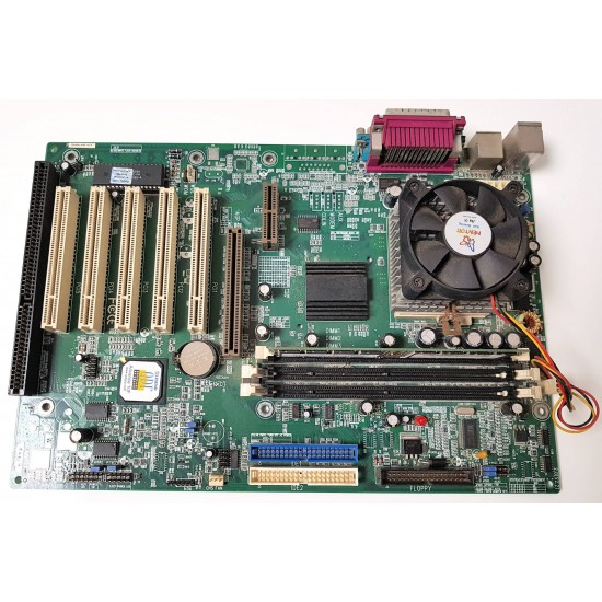 Scheda Madre QDI Advance 10F P6V694X con CPU Intel Pentium III a 866Mhz e 128 MB di SDRAM