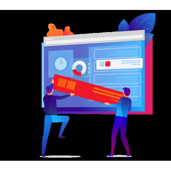Realizzazione Sito Web Completo responsivo interattivo a canone mensile
