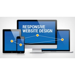 Realization of a mono or multi-page interactive responsive website