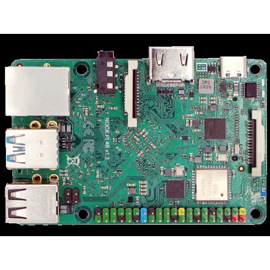 Rock Pi 4 B versione con 2 GB di DDR4