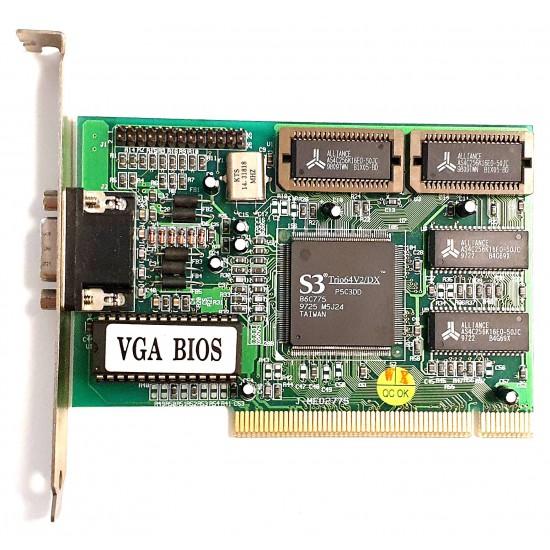 VGA S3 Trio 64 V2/DX video card for PCI slot