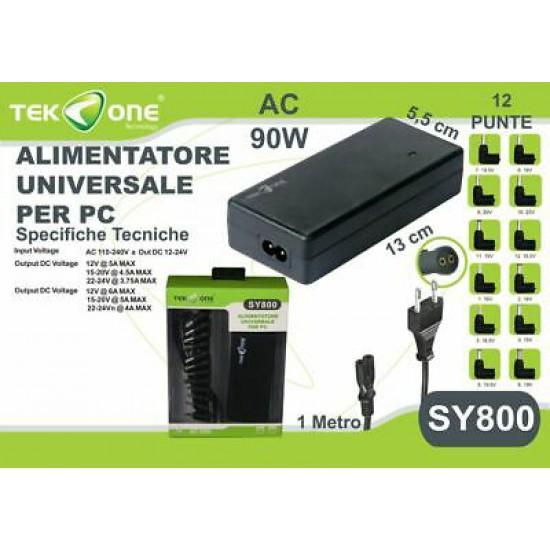 Alimentatore caricabatterie universale per Notebook SY800 da 90 Watt