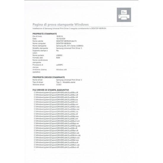 Stampante Laser monocromatica Samsung ML-1910