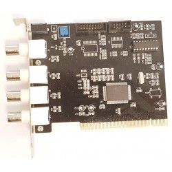 Scheda PCI per acquisizione video CCTV a 4 canali UCC4 Ver 2.2