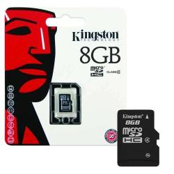 Scheda di Memoria Micro SDHC da 8 Gb con Adattatore - Classe 4