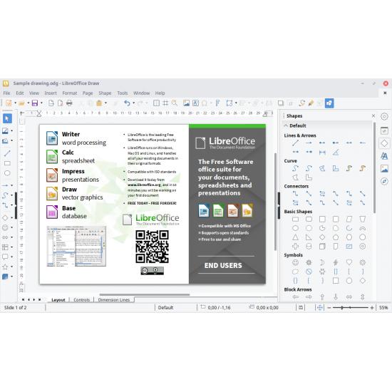 LibreOffice Suite versione 7.1 2021 su DVD per Windows Mac e Linux 32 e 64 bit